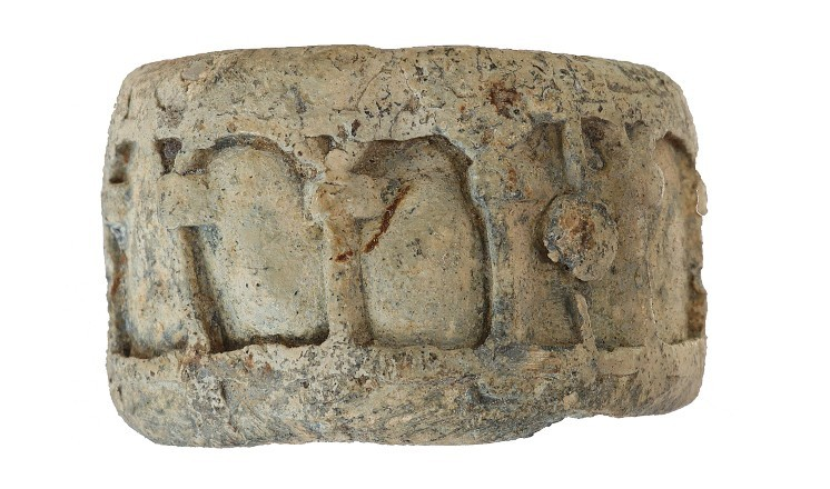Medieval lead pyx or reliquary, Swinderby