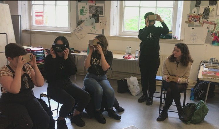 The Creative Collective using VR headsets