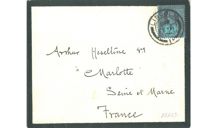 Letter with mourning border