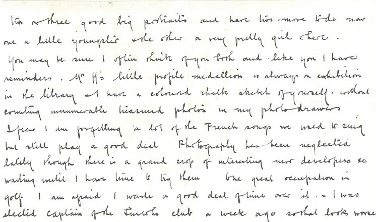 Extract from the letter by Warrener