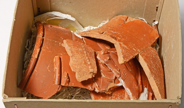 The sherds as they were found