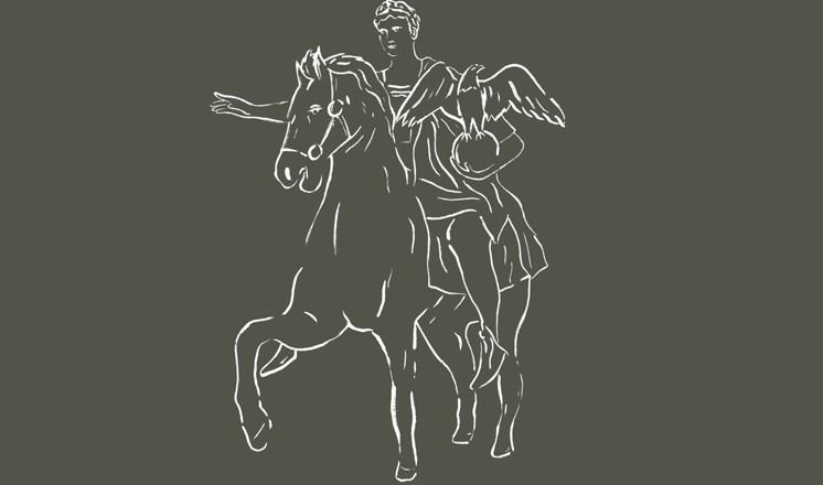 Hypothetical reconstruction of an Imperial equestrian statue of Domitian