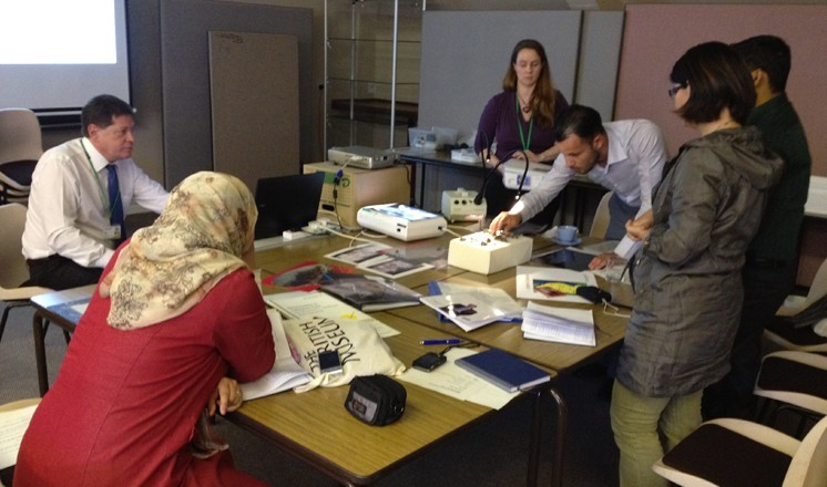 The participants learning about conservation and preservation