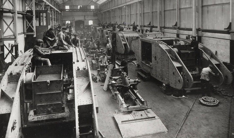 The tank erecting shop, Wellington Foundry, William Foster & Co. Ltd Lincoln