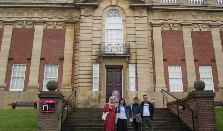 The participants outside the Usher Gallery