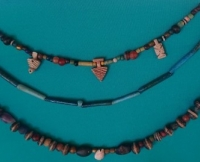 A selection of Egyptian beaded necklaces from our collections