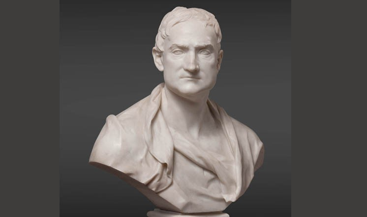 <h3>Bust of Isaac Newton by Louis-Francois Roubiliac, 18th century; courtesy of a private collection</h3><h4>Category: Sculpture</h4>